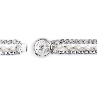 Ginger Snaps Clasp Snap Holder Pearl Bracelet