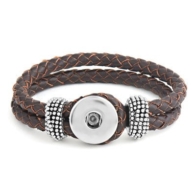 Ginger Snaps Brown Double Braided Bracelet