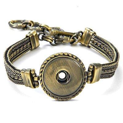 Ginger Snaps Antique Brass 1-Snap Multi Chain Bracelet