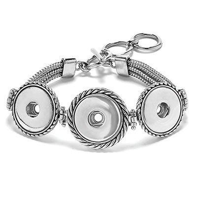 Ginger Snaps 3 Snap Multi Chain Bracelet