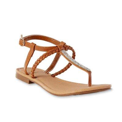 Crystal Thong Sandals - Tan
