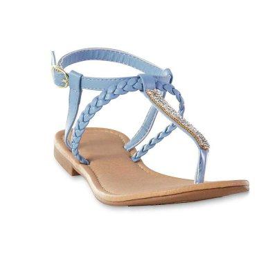Crystal Thong Sandals - Sky Blue