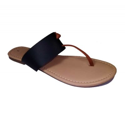 Island Thong Slide-Ins Black-Brown