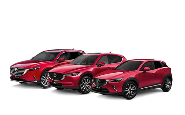 Mazda CX-3 vs  CX-5 vs  CX-9 Size Comparison