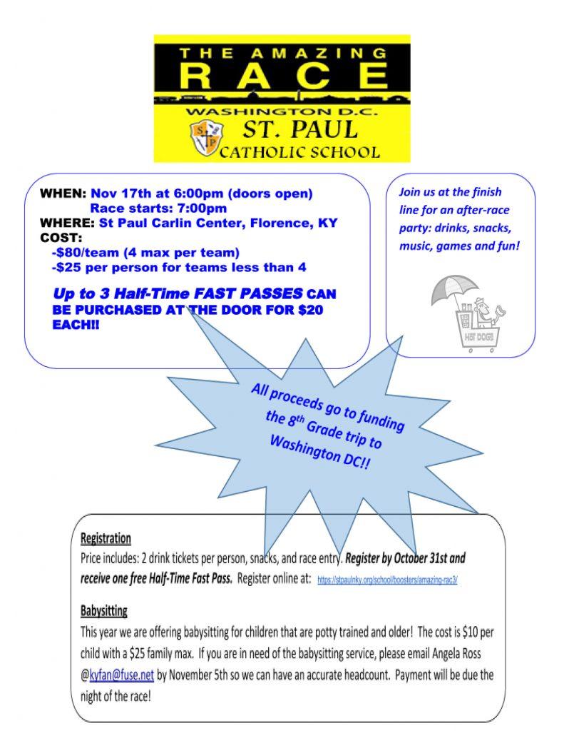 St Paul Amazing Race St Henry District High School