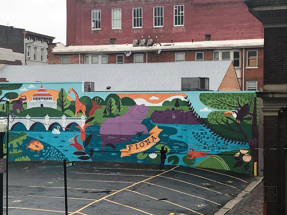Artist Leaves Her Mark on Cincinnati_1 mural