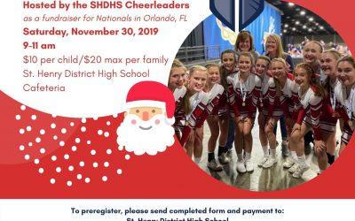 SHDHS Cheerleaders Host Breakfast with Santa