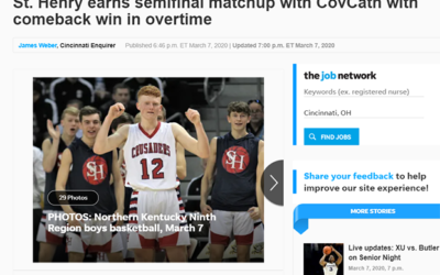 St. Henry earns semifinal matchup with CovCath with comeback win in overtime