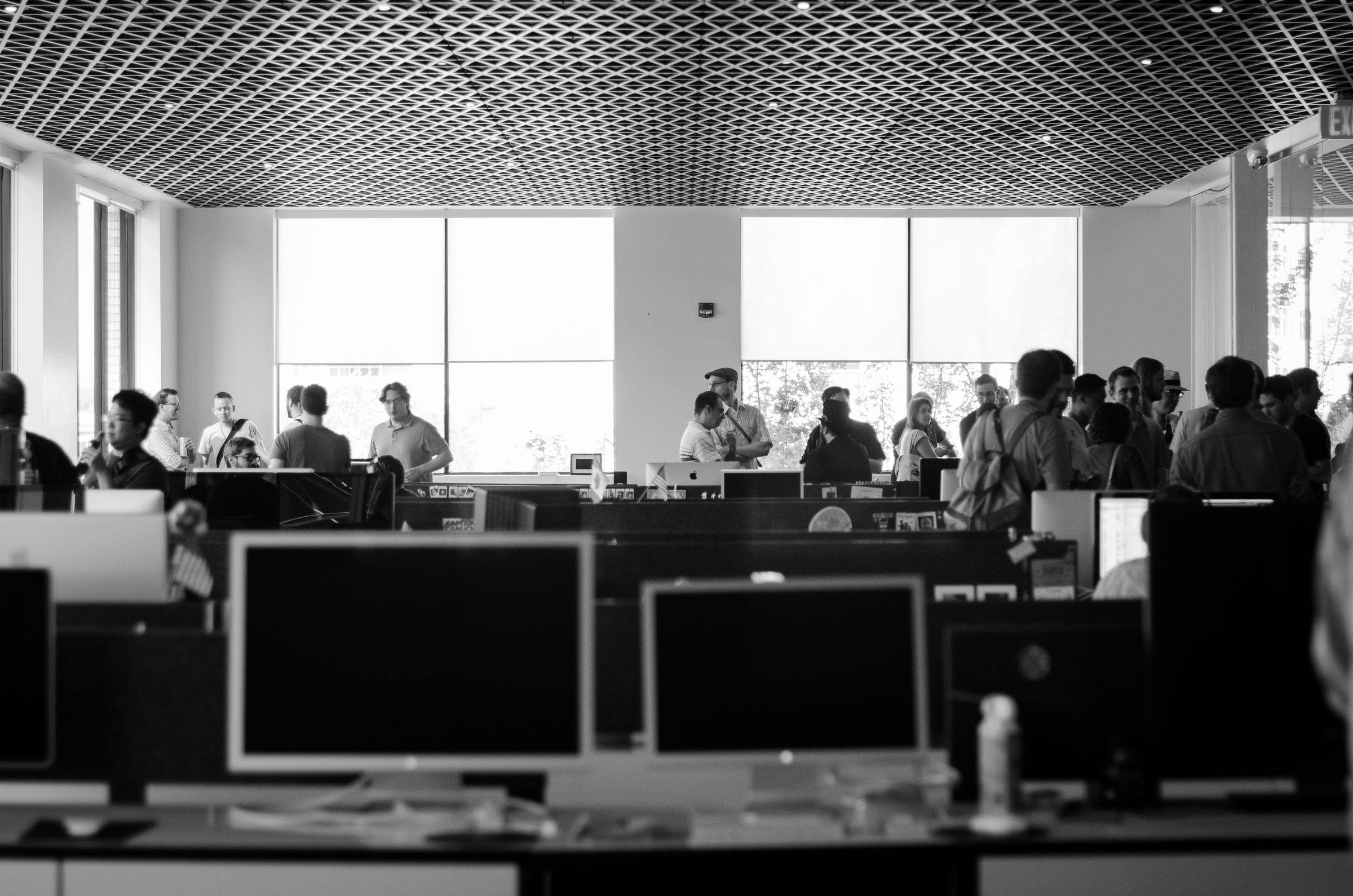 Desks at Panic