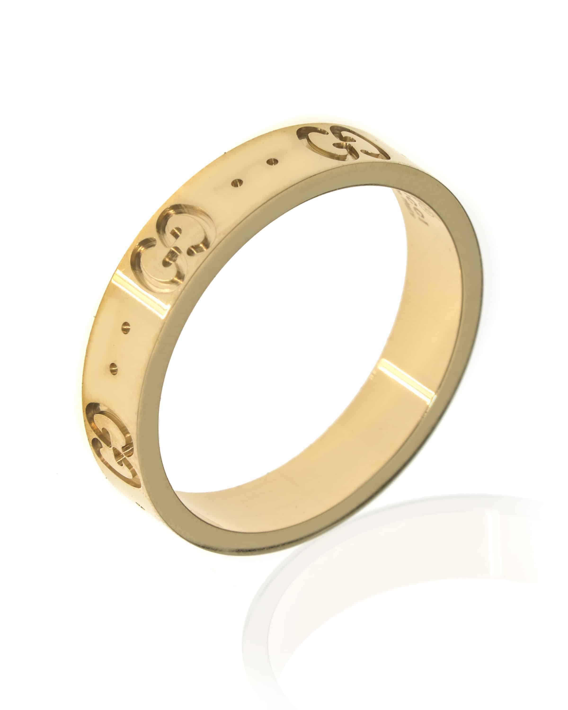Gucci Icon 18k Yellow Gold Band Ring YBC0316008