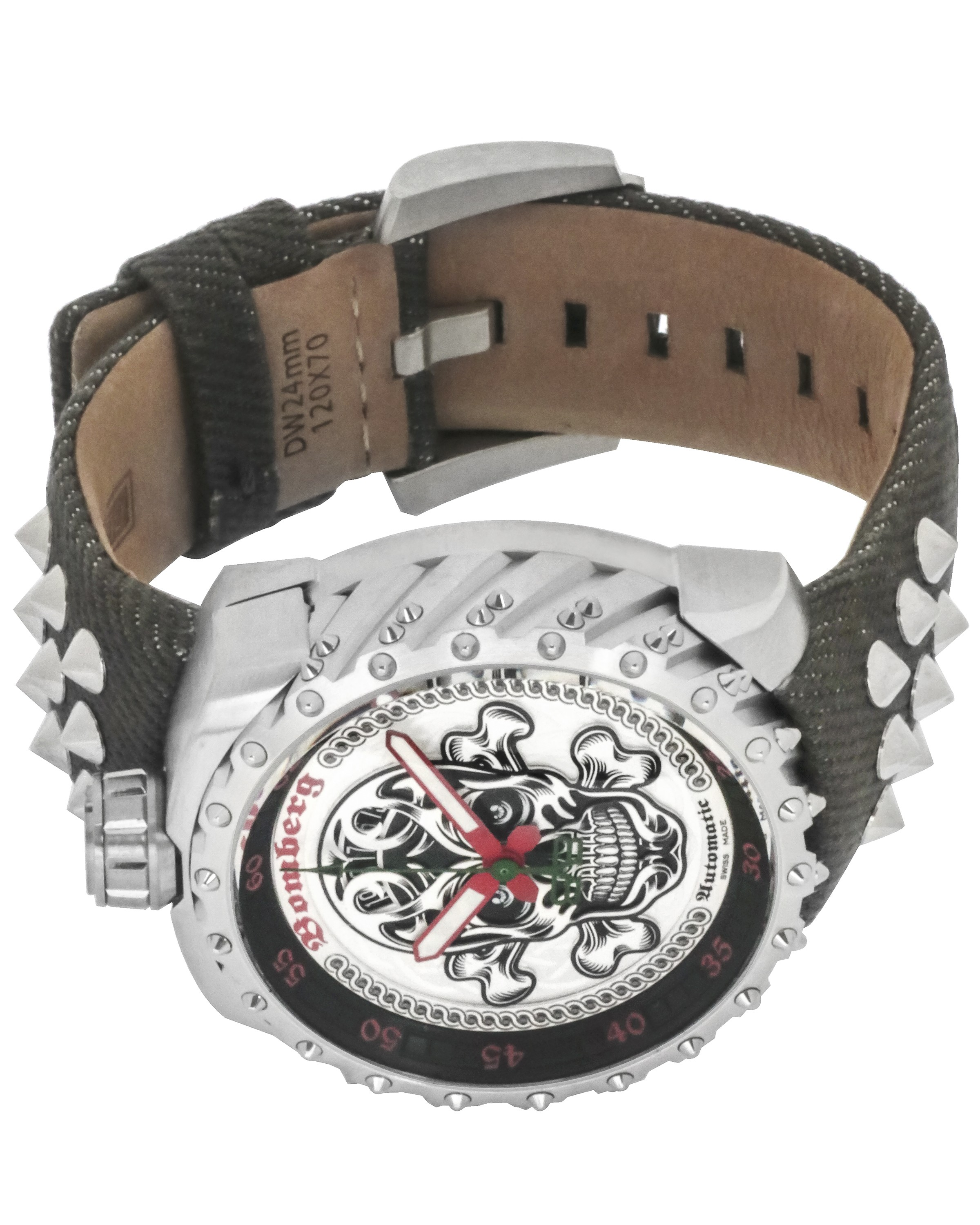 Bomberg Bolt-68 Black Nails Badass Limited Edition Automatic Men's Watch BS45ASS.039-4.3