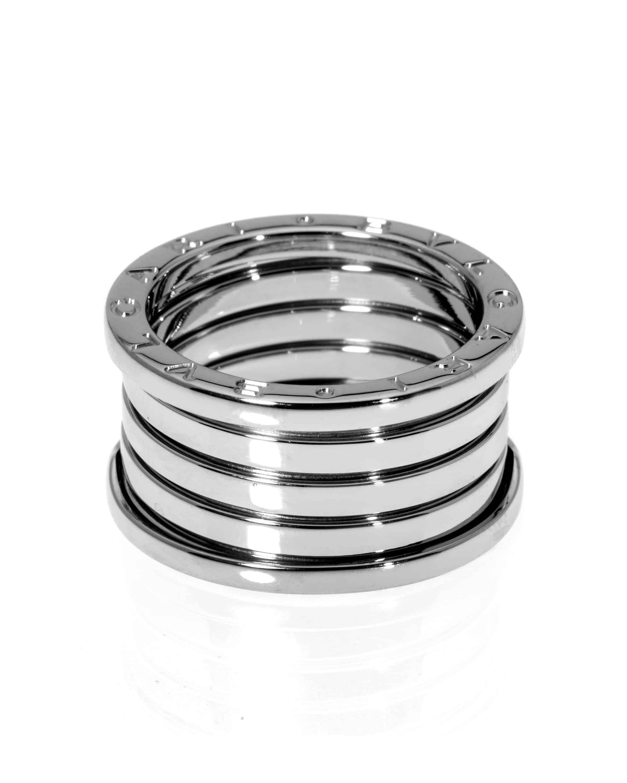 Bvlgari B Zero 18k White Gold Band Ring Size 9.25. AN191028