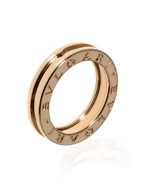 Bvlgari B Zero 18k Rose Gold Band Ring AN852422