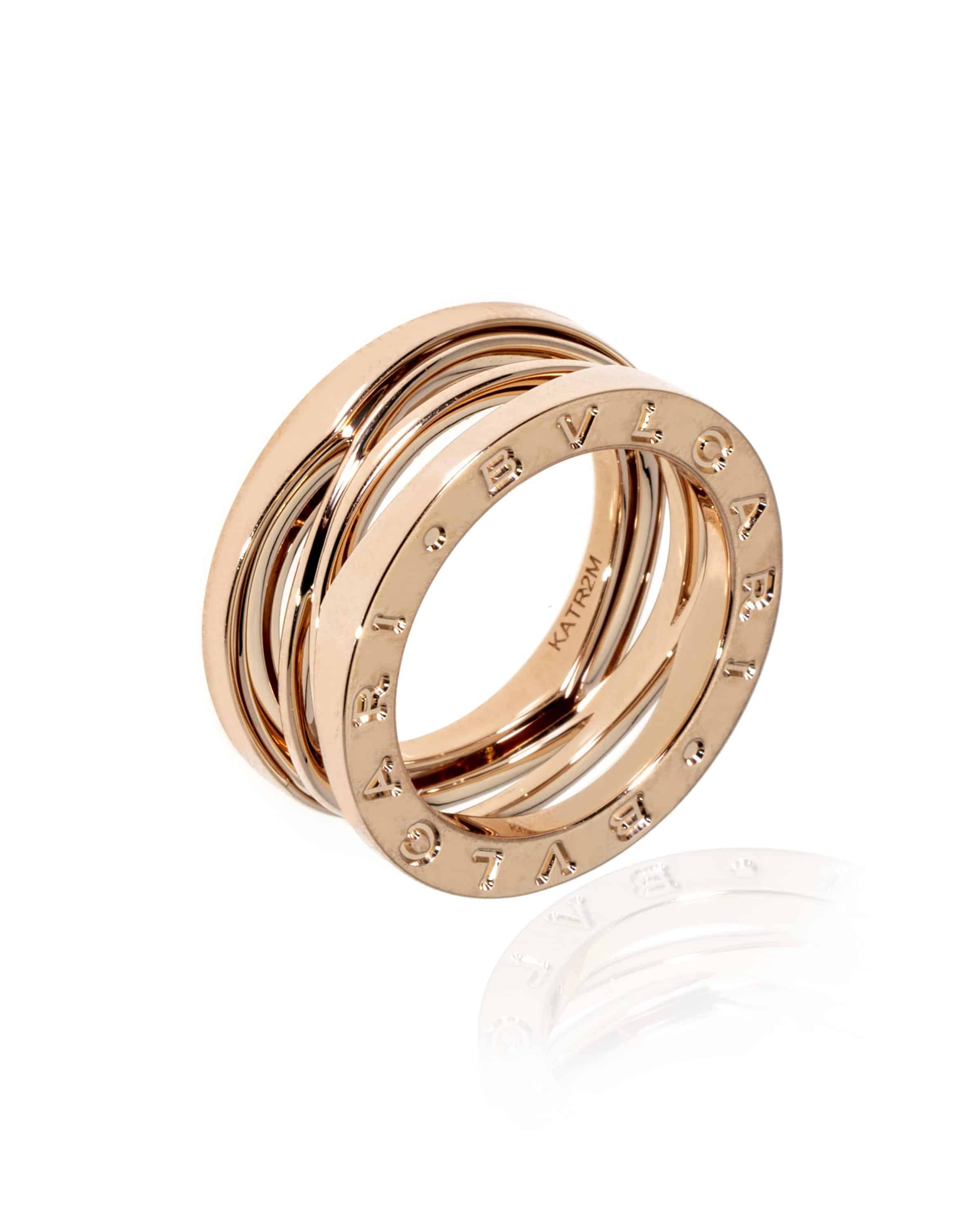 Bvlgari B Zero 18k Rose Gold Band Ring Size 6.25. AN858029