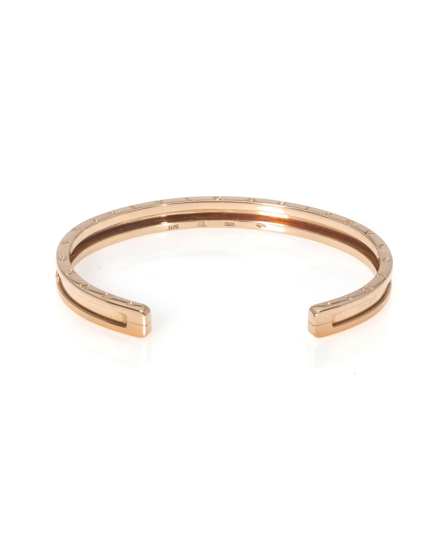 Bvlgari B Zero 18k Rose Gold Bangle Bracelet BR855437