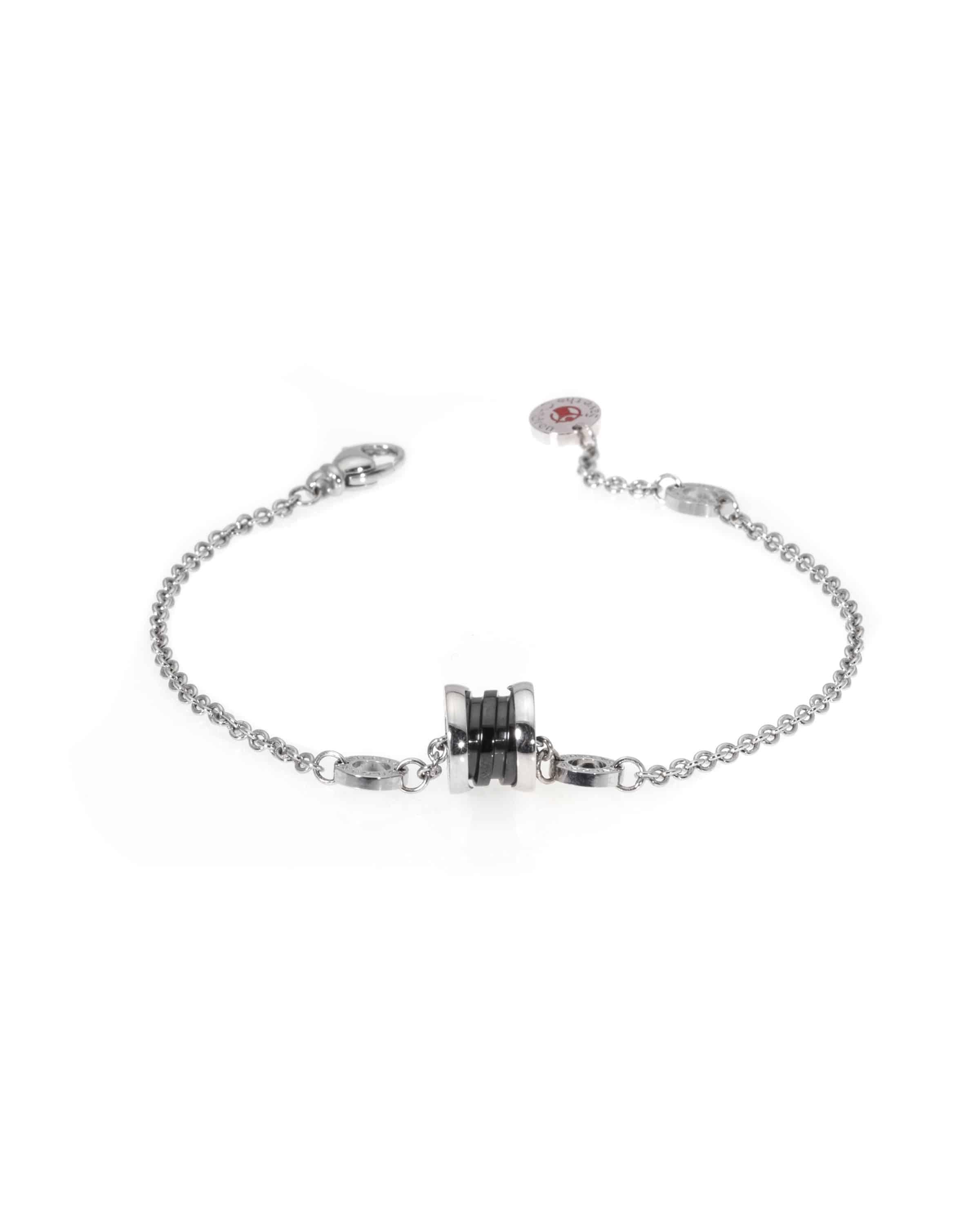 Bvlgari Save The Children Sterling Silver And Ceramic Chain Bracelet BR857428