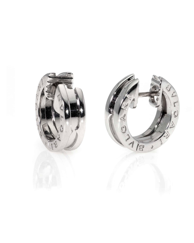 Bvlgari B Zero 18k White Gold Hoop Earrings OR855539