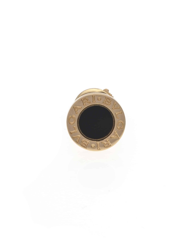 Bvlgari Bvlgari 18k Rose Gold Onyx Stud Earrings OR858198