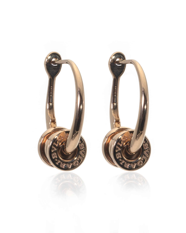 Bvlgari B Zero 18k Rose Gold Hoop Earrings OR858259