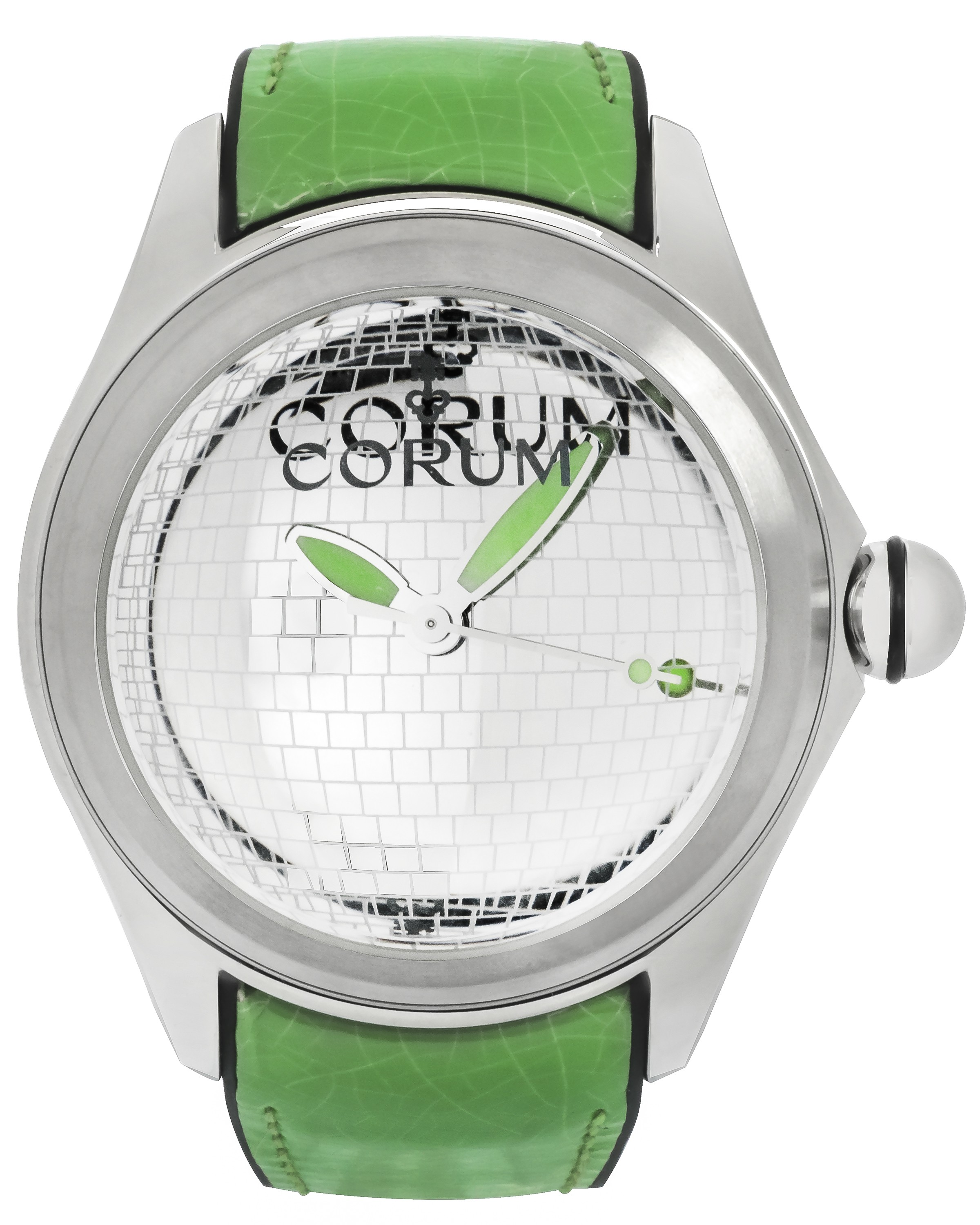 Corum Bubble 47 Disco Ball Stainless Steel Automatic Mens Watch