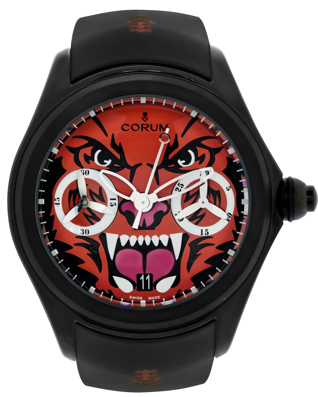 Corum Bubble 47 Tiger PVD Coated Titanium Chronograph Automatic Men's Watch