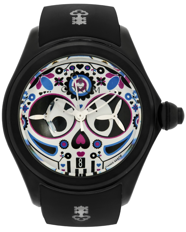 Corum Bubble 47 Sugra Skull PVD Coated Titanium Chronograph Auto Men's Watch