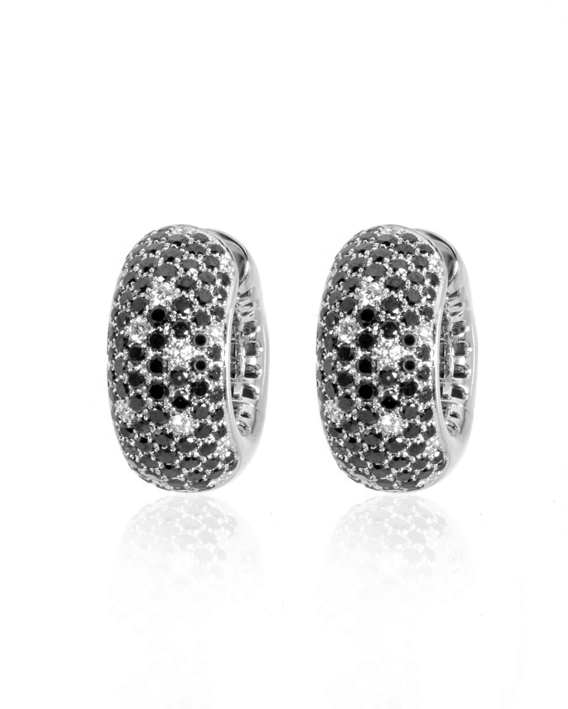 Crivelli 18k White Gold Diamond And Black Diamond Earrings 117-OR586-24967253