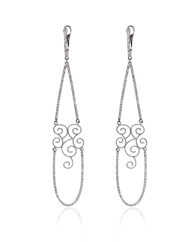 Crivelli 18k White Gold Diamond Earrings 350-B171-42124105