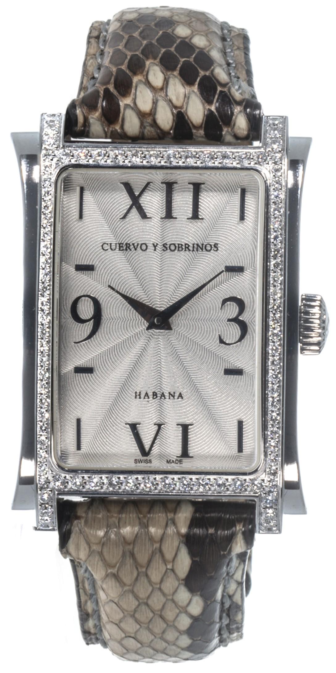 Cuervo Y Sobrinos Diamond Prominente Classico Quartz Ladies Watch 1010.1AGQ
