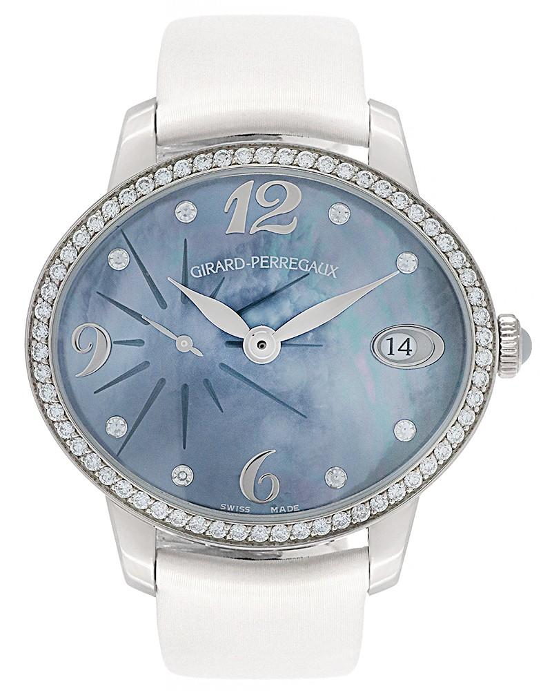 Girard Perregaux Cat's Eye Automatic 18K White Gold Ladies Watch 80484D53A661.BK6B