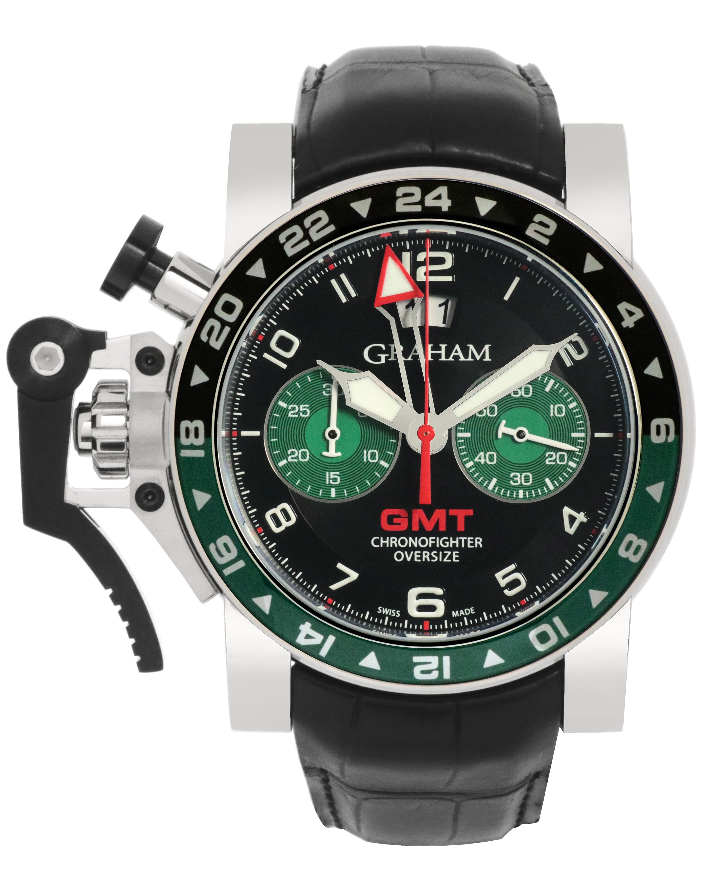 Graham Chronofighter Oversize GMT Chronograph Men's Watch 2OVGS.B12A
