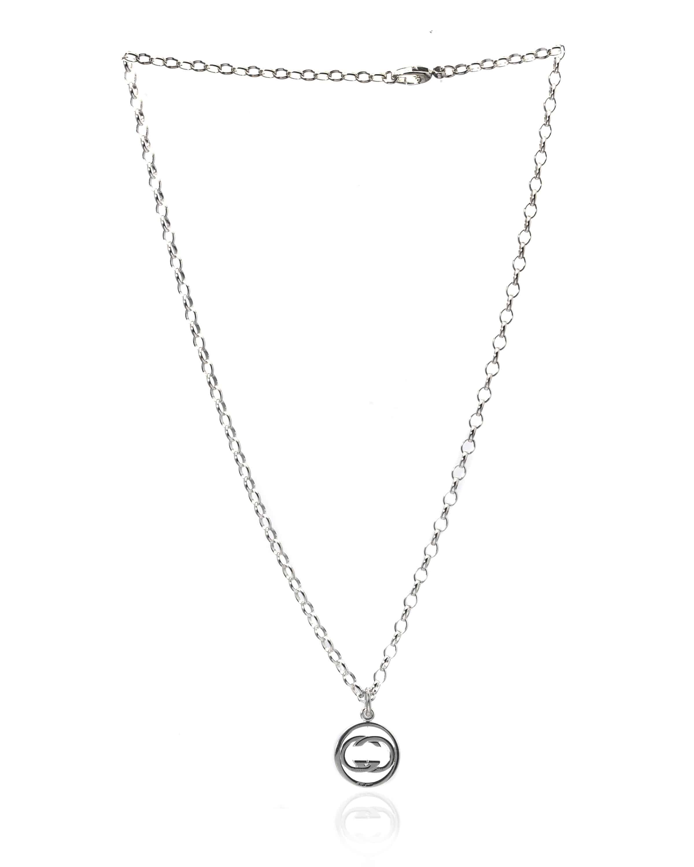 Gucci Sterling Silver Pendant Necklace-147749J8400810