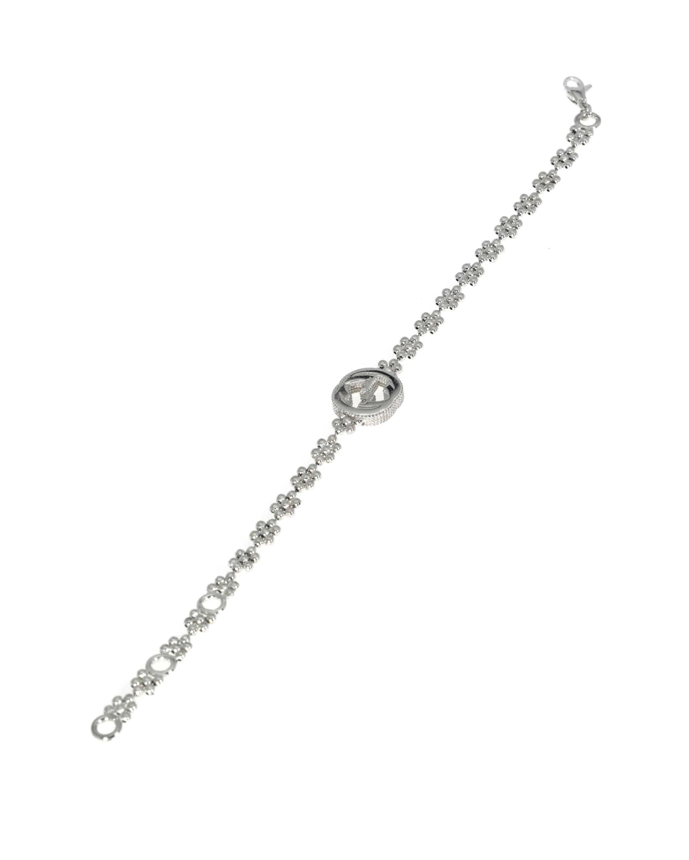 Gucci Interlocking G Sterling Silver Bracelet YBA48168700100U