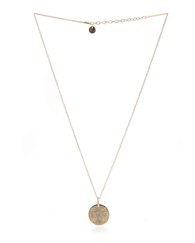 Gucci Icon 18k Yellow Gold And Enamel Pendant Necklace YBB46085100300U