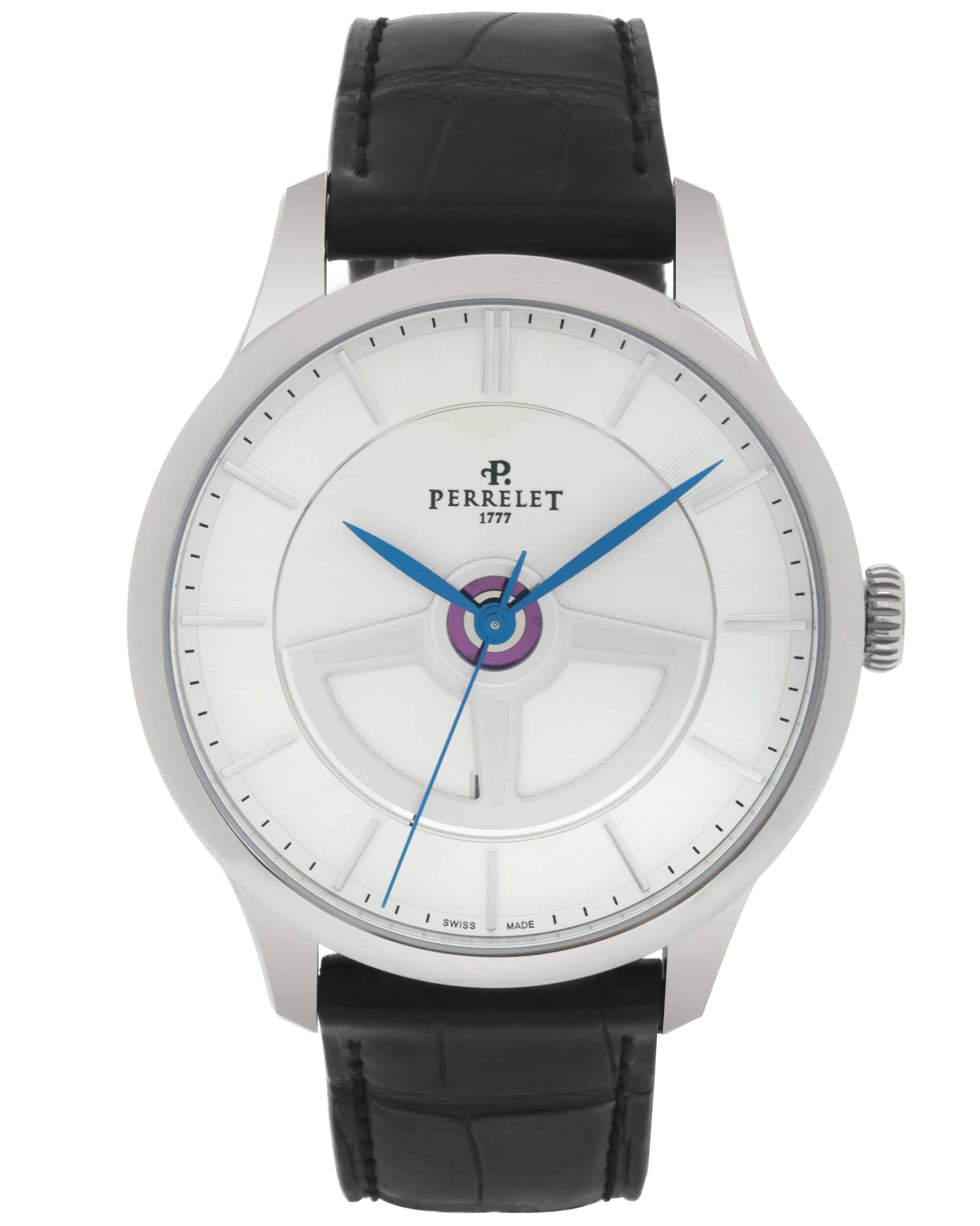 Perrelet First Class Double Rotor Stainless Steel Automatic Men's Watch A1090/1A