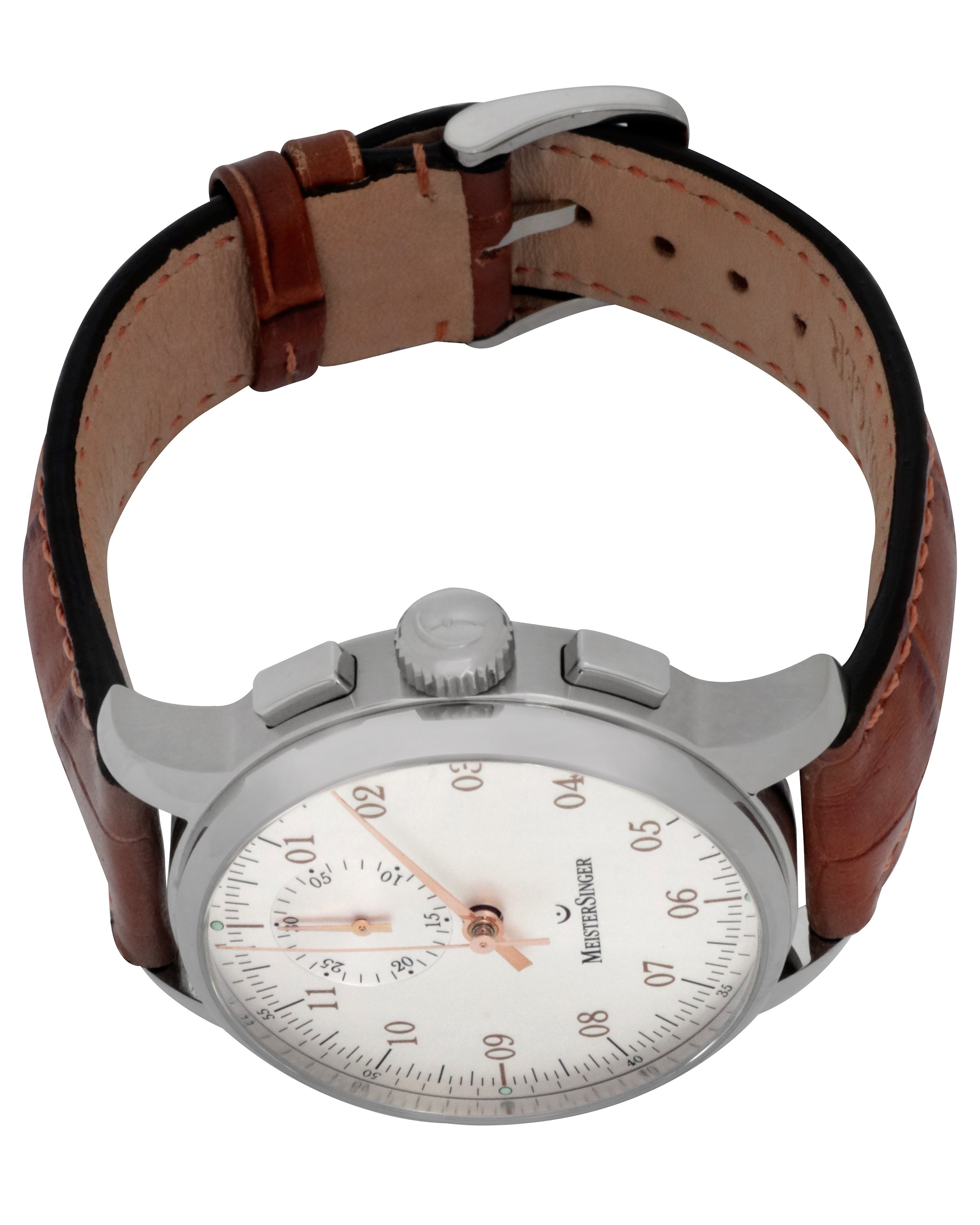 MeisterSinger Singular Silver Dial Cronograph Automatic Men's Watch MM401Gb