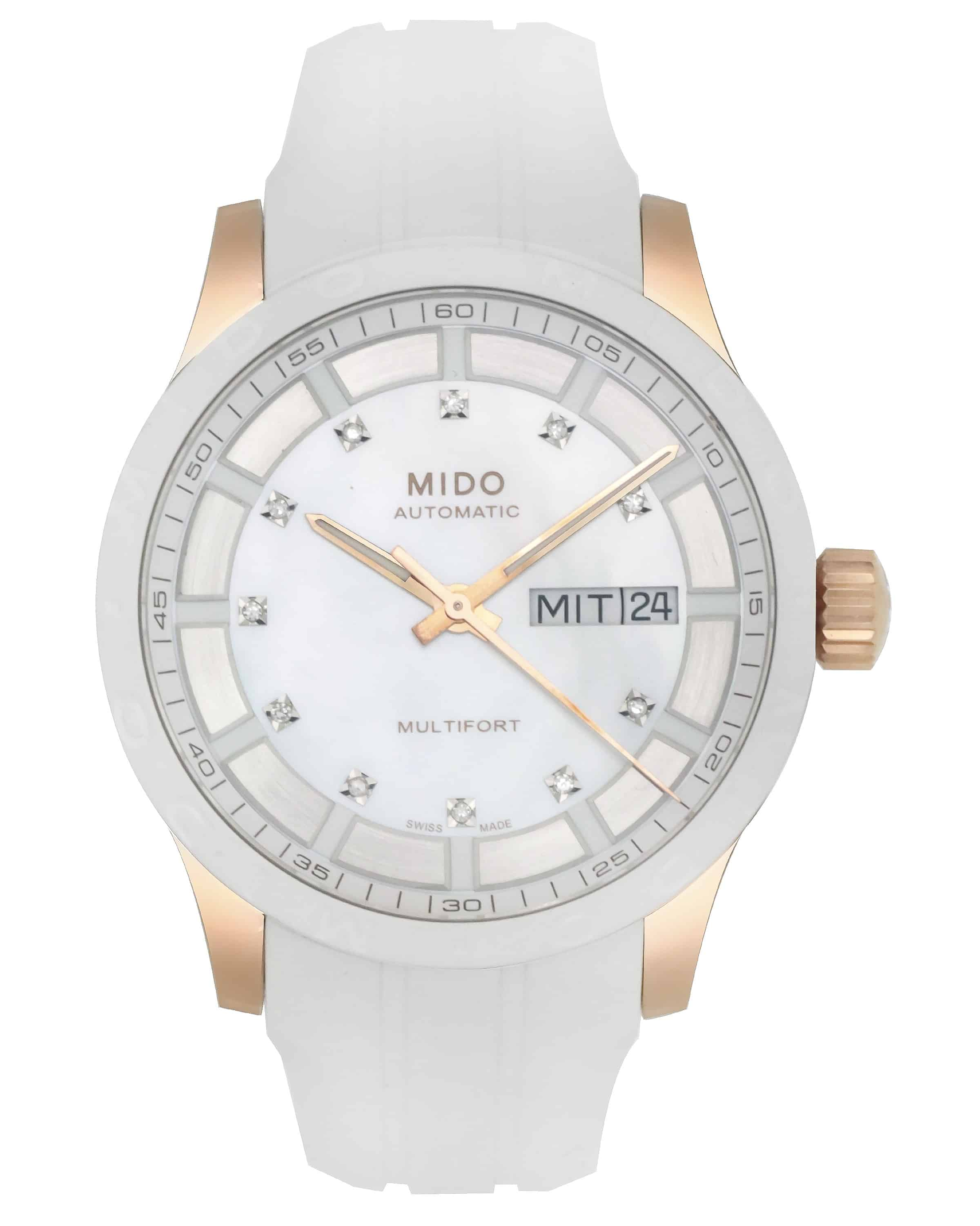 Mido Multifort II Mother Of Pearl Rose Gold Tone Automatic Ladies Watch M0188303711680