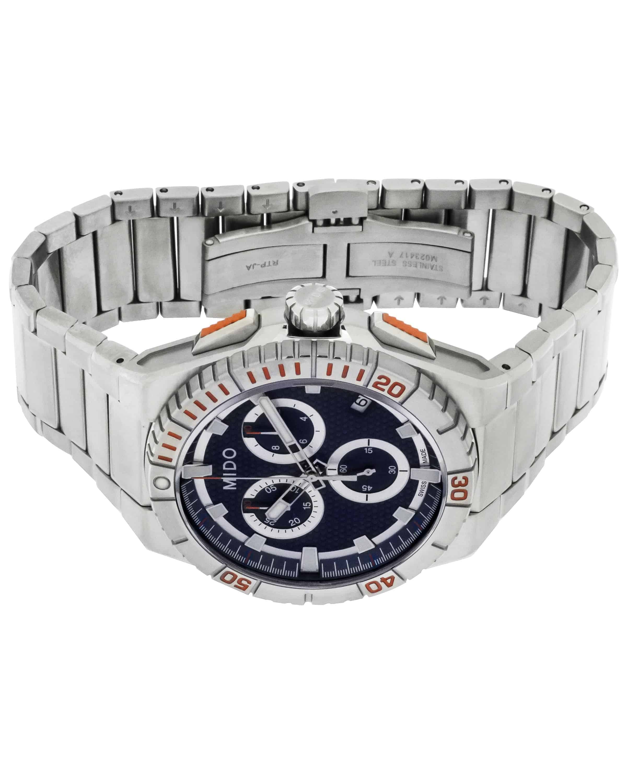 Mido Ocean Star Captain Blue Dial Chronograph Quartz Men's Watch M0234171104100