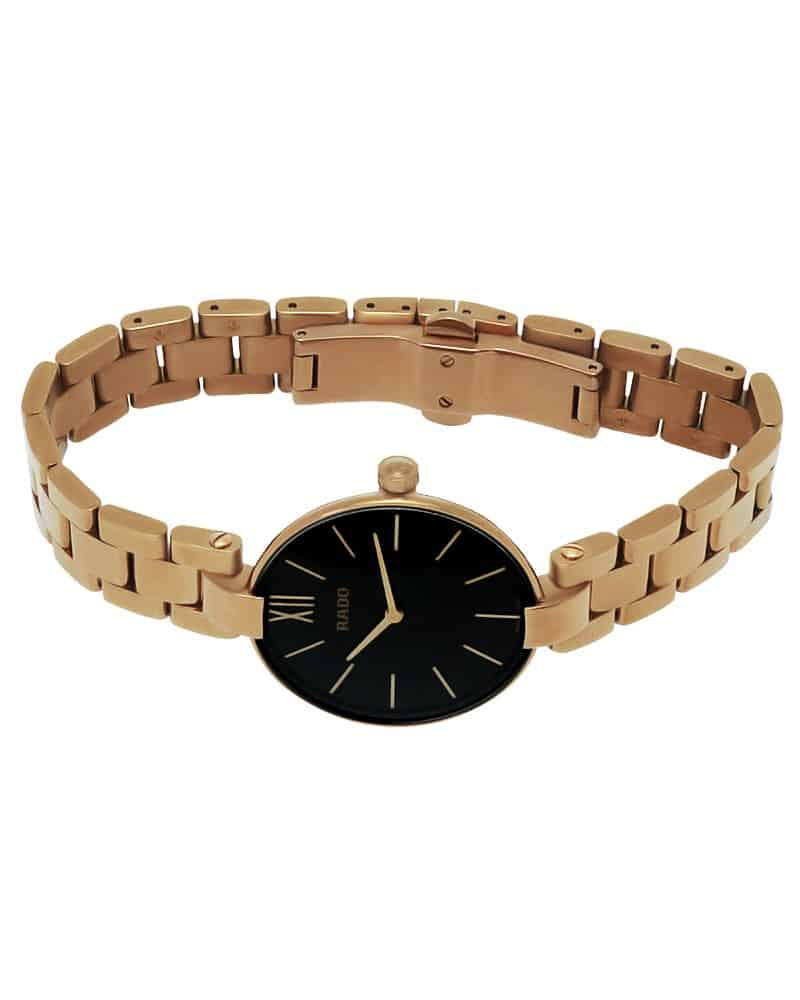 Rado Coupole Rose Gold Plated Quartz Ladies Watch R22851163