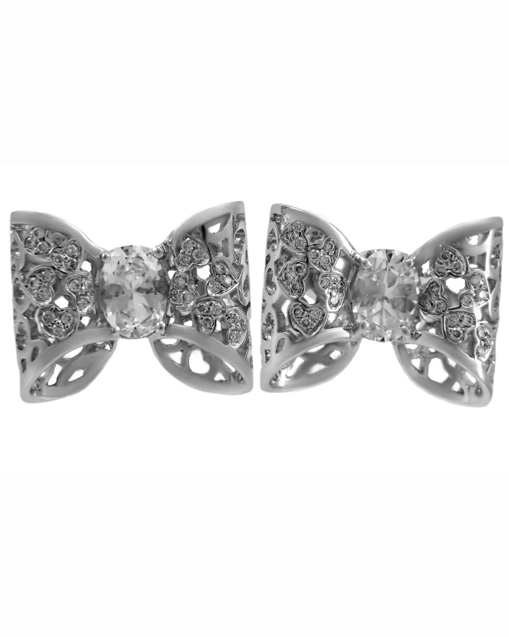 "PASQUALE BRUNI – ""Oh La' La'!"" 18K White Gold Earrings"
