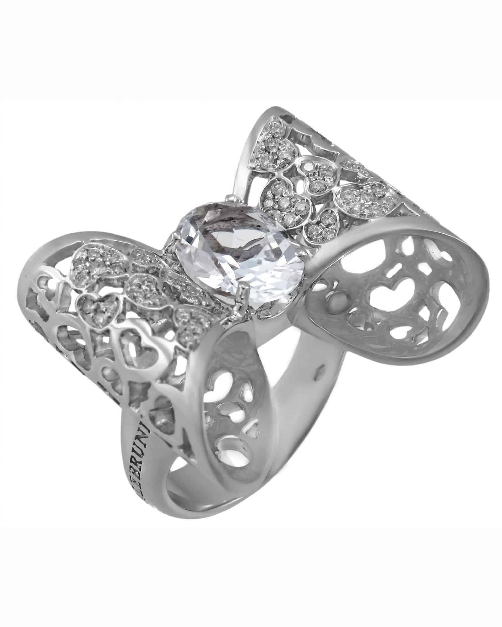 """PASQUALE BRUNI – """"Oh La'La'!"""" 18K White Gold Oh La'La'! Ring – Size 7.5"""