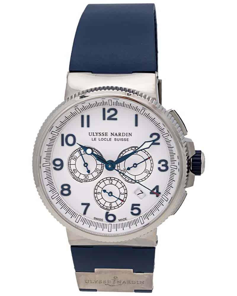 Ulysse Nardin Marine Chronograph Manufacture 43mm Mens Watch – 1503-150-3/60