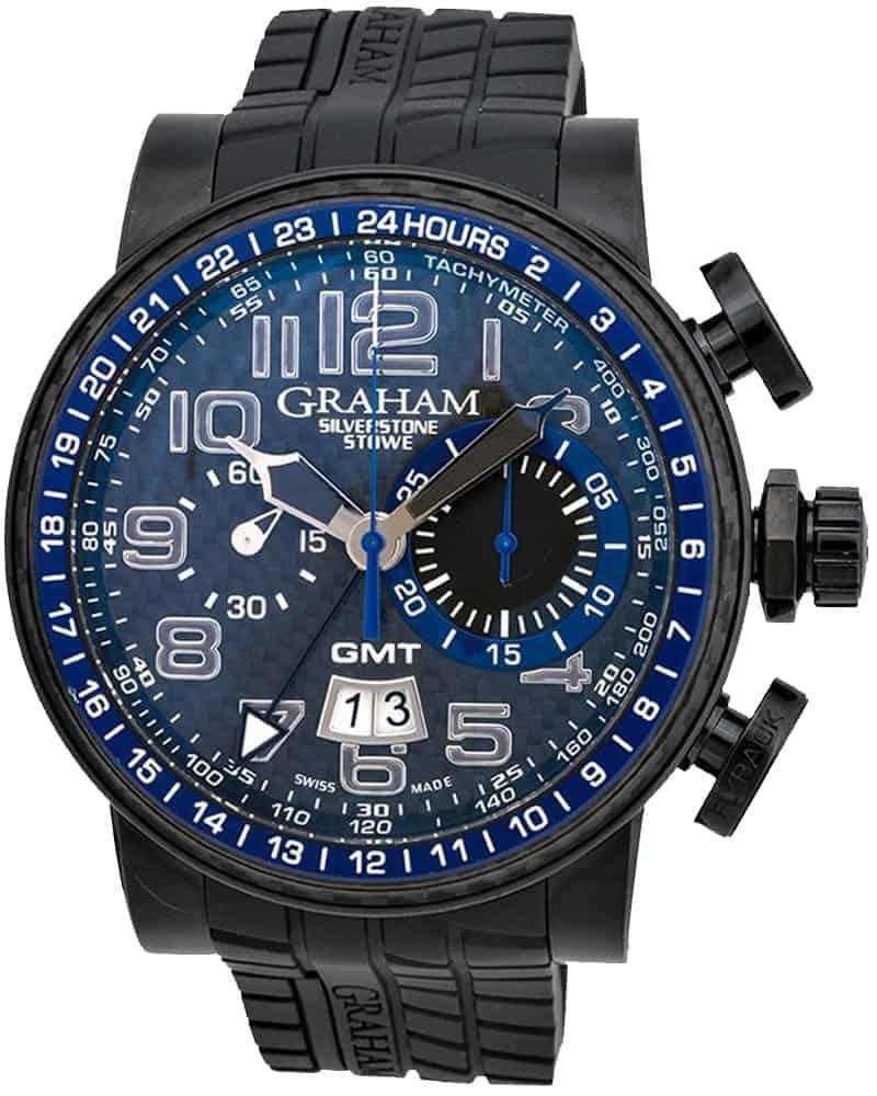 Graham Silverstone Stowe GMT Chronograph Automatic Men's Watch – 2BLCB.B30A