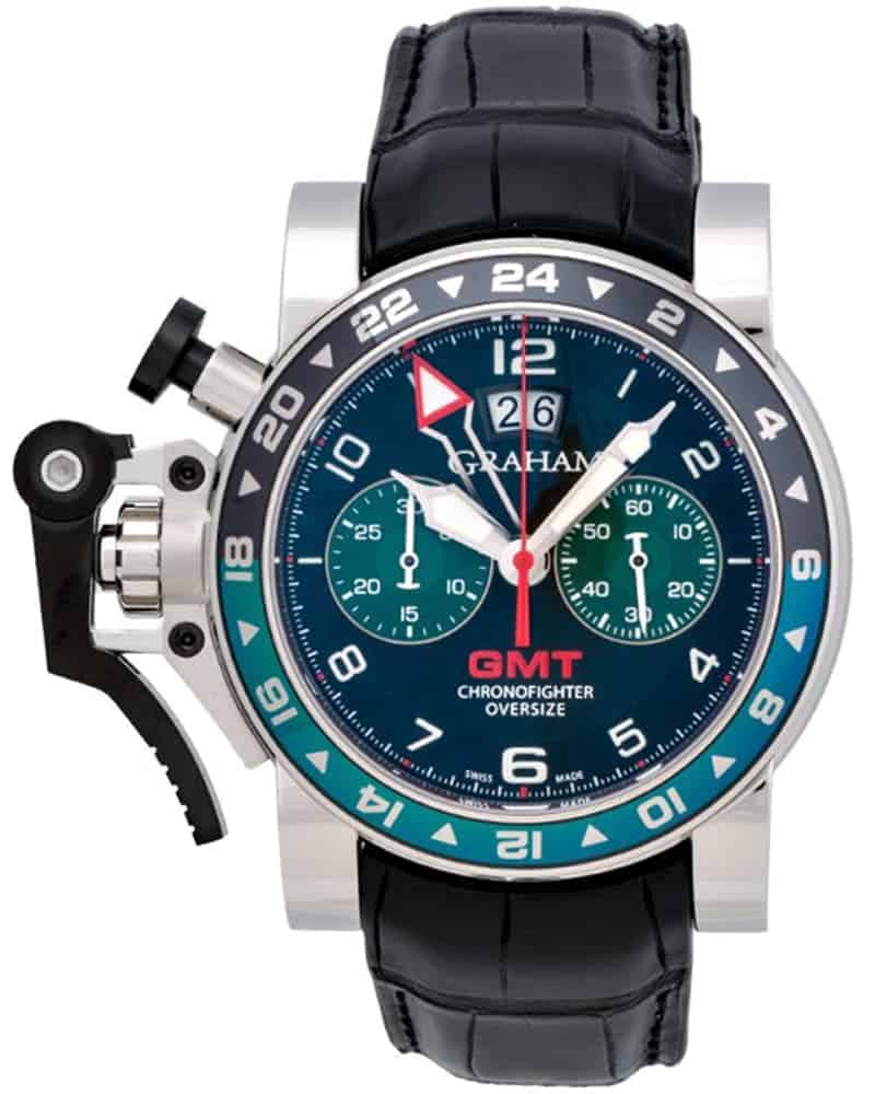Graham Chronofighter Oversize GMT Chronograph Men's Watch – 2OVGS.B12A