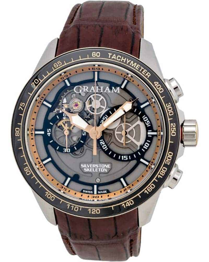 Graham Silverstone RS Skeleton Chronograph Men's Watch – 2STAG.B02A