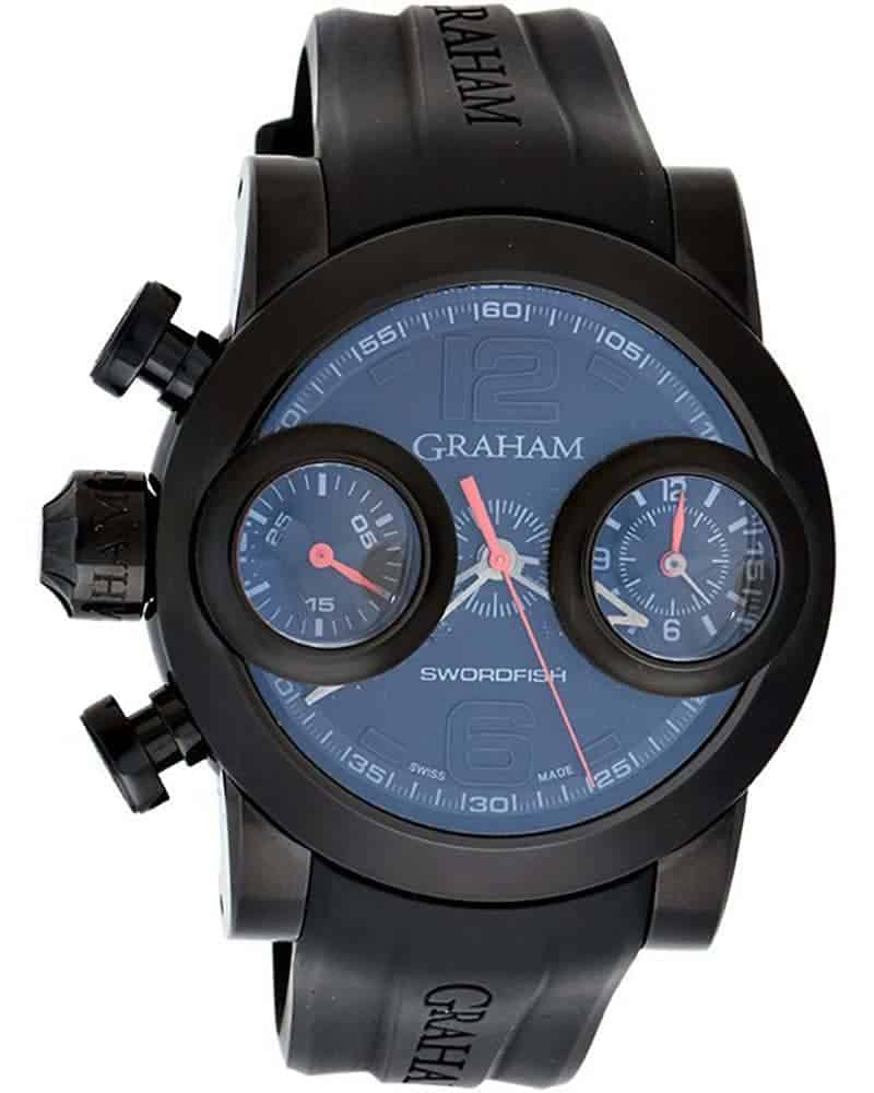 Graham Swordfish Booster Left Chrono Men's Watch – 2SWBB.R36L.K58N