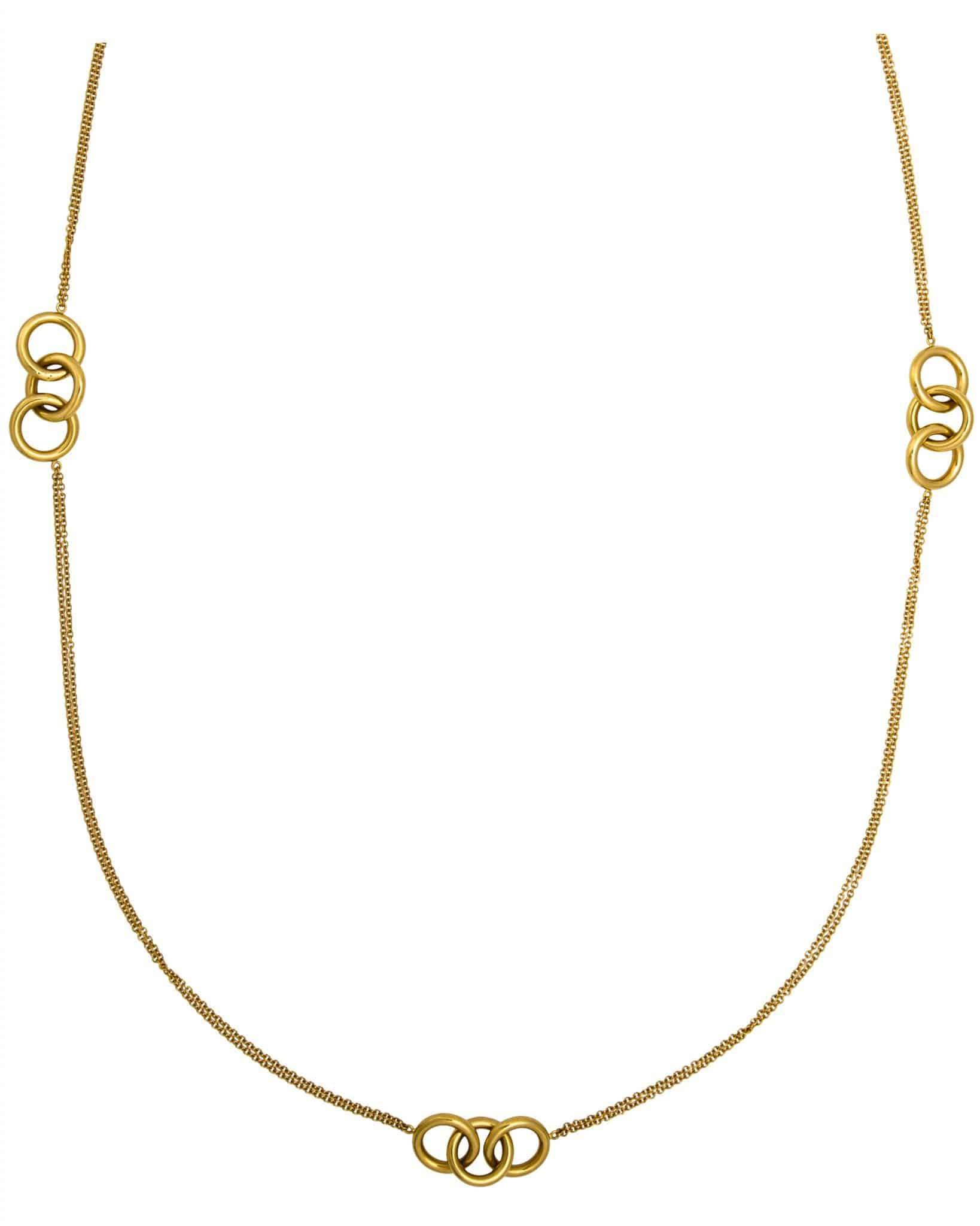 Roberto Coin 18K Yellow Gold 3 Circle Amethyst Necklace