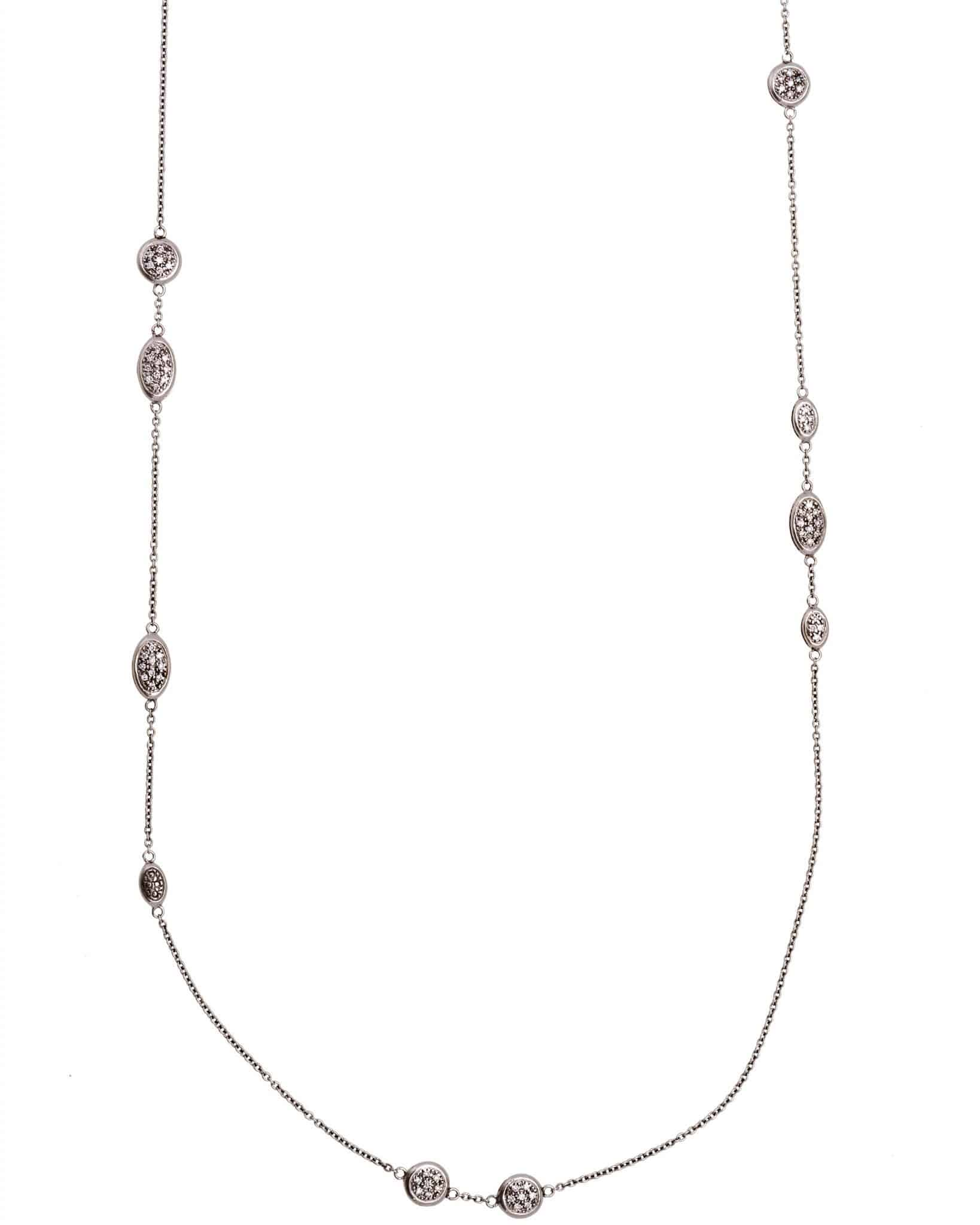 Roberto Coin 18K White Gold Diamond Necklace