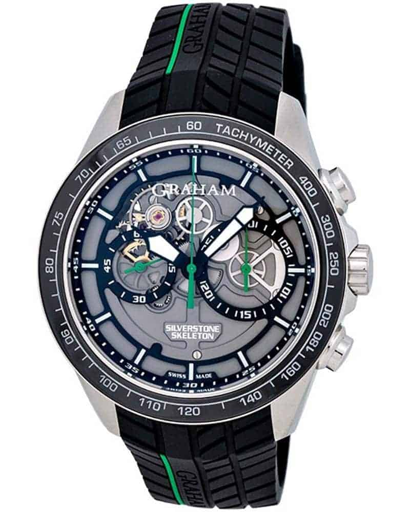 Graham Silverstone RS Skeleton Chronograph Men's Watch – 2STAC2.B01A