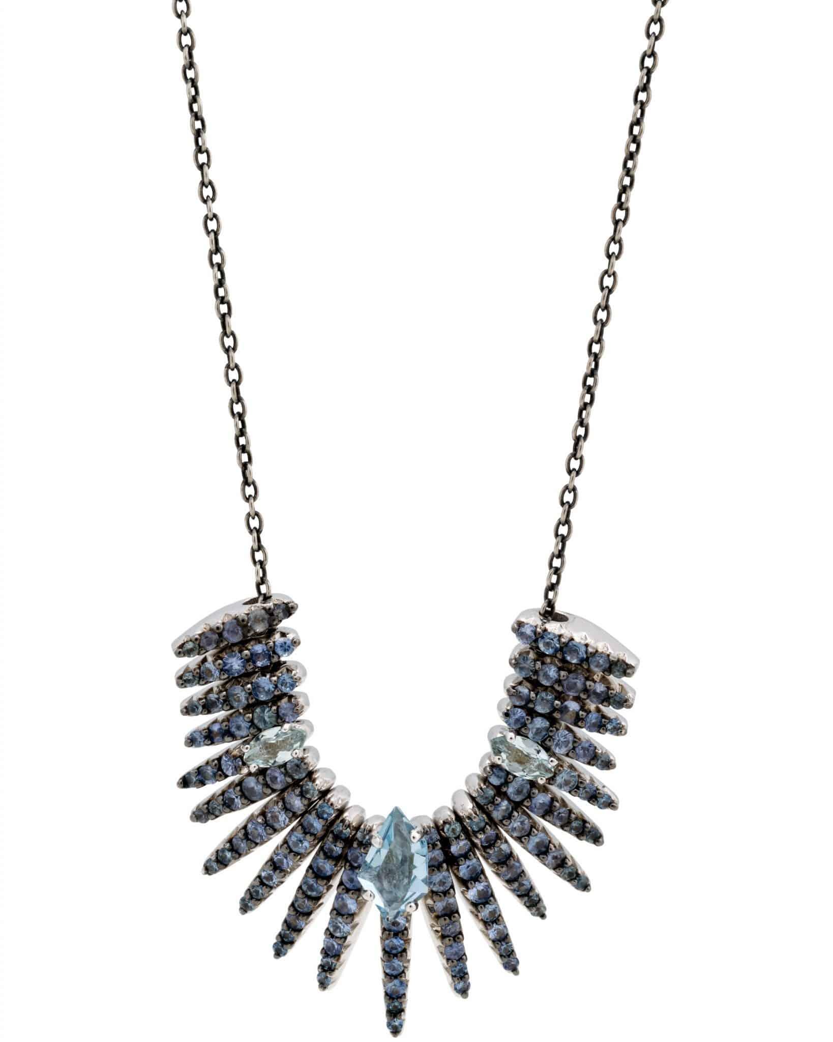 ALEXIS BITTAR – Quartz Kites And Blue Sapphire Necklace